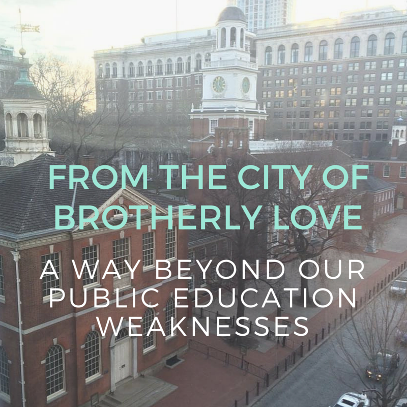 FROM THE CITY OF BROTHERLY LOVE-